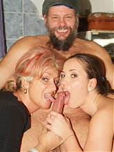 Sexy matures Silvia and Christina get dirty and go for hardcore fucking in this kinky threesome