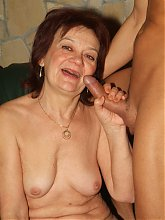 Slutty mature Paula does a sexy striptease and later gets fucked hard after sucking a wang